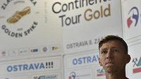 Výškař Marek Bahník na tiskové konferenci před 59. ročníkem atletického mítinku Zlatá tretra Ostrava.