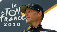 Lance Armstrong na archivním snímku při Tour de France v roce 2010.