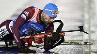 Ruský biatlonista Anton Šipulin vyhrál Světového poháru ve sprintu, na olympiádě v Pchjongčchangu ale startovat nemohl kvůli dopingové kauze.