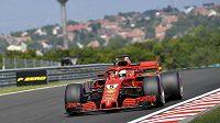 Sebastian Vettel během tréninku na Velkou cenu Maďarska.