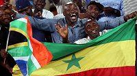 Fanoušci Senegalu slaví postup na MS.