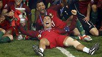 Cristiano Ronaldo ve finále odehrál jen 25 minut, na radosti mu to ale neubralo.