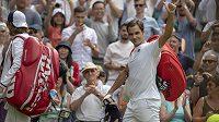 Roger Federer po vítězství nad slovenským tenistou Lukášem Lackem