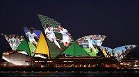 Opera v Sydney oslavila pořadateltví MS žen v roce 2023, které hostí Austrálie s Novým Zélandem.