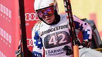 Ester Ledecká při loňském startu v SP v Garmisch-Partenkirchenu.