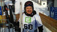Leoš Prokopec, nejstarší účastník snowboardového mistrovství světa.