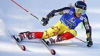 Kanaďanka Marie-Pier Prefontaineová na trati obřího slalomu v Lienzu.