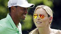 Lindsey Vonnová a její přítel Tiger Woods.