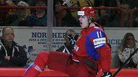 Radost ruského hokejisty Jevgenije Malkina