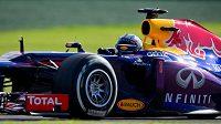 Pilot Red Bullu Sebastian Vettel během tréninku na Velkou cenu Austrálie.