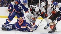 Robin Lehner si v utkání proti Anaheimu Ducks připsal čisté konto.