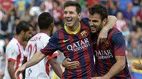 Lionel Messi (vlevo) se vrátil k tréninku.