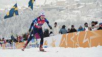 Eva Nývltová-Brabcová při týmovém sprintu na MS ve Val di Fiemme.