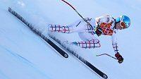 Česká lyžařka Klára Křížová se připravuje na středeční závod ve sjezdu.