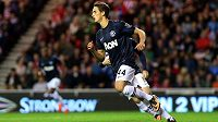 Talentovaný záložník Rudých ďáblů Adnan Januzaj slaví gól do sítě Sunderlandu.