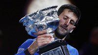 Srbský tenista Novak Djokovič vybojoval už patnáctou grandslamovou trofej.