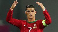 Hvězda portugalského výběru Cristiano Ronaldo zatím na Euru nijak nezáří