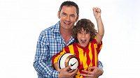 Emanuele Ridi se synem Giacomem.