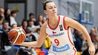 Česká basketbalistka Lenka Bartáková.