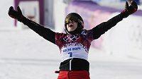 Švýcarský snowboardistka Patrizia Kummerová vyhrála závod v paralelním obřím slalomu na olympiádě v Soči.