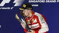 Sebastian Vettel triumfoval ve Velké ceně Singapuru v kariéře už počtvrté.