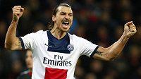 Zlatan Ibrahimovic z Paris St. Germain v utkání Ligy mistrů proti Leverkusenu znovu osvědčil pověst kanonýra.
