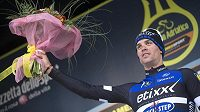 Český cyklista Zdeněk štybar slaví vítězství v druhé etapě závodu série WorldTour Tirreno-Adriatico.
