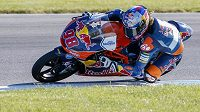 Český motocyklový jezdec Karel Hanika během kvalifikace na Velkou cenu USA.