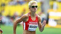 Půlkařka Lenka Masná při rozběhu na mistrovství světa v Moskvě.