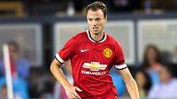 Fotbalový obránce Jonny Evans ještě v barvách Manchesteru United.