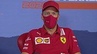 Německý jezdec Ferrari Sebastian Vettel.