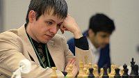 Český šachista David Navara na mezinárodním turnaji v Praze.