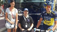 Michaela Kreuzigerová jako fanynka na Tour de France.