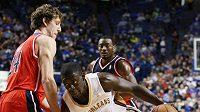 Český basketbalista Jan Veselý z Washingtonu v přípravě proti New Orleans žádný koš nedal.