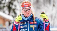 Biatlonistka Markéta Davidová při SP ve francouzském Annecy.