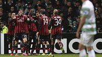 Radost fotbalistů AC Milán