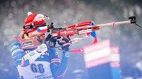 Veronika Vítková při sprintu v Annecy