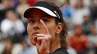 Srbka Ana Ivanovičová během osmifinále French Open.