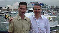 Trenéři australského FC Sydney Vítězslav Lavička (vpravo) a Michal Zach