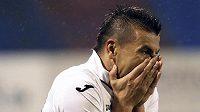 Reakce ostravského útočníka Milana Baroše po promarněné šanci proti Liberci.