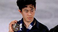 Americký krasobruslař Nathan Chen poprvé v kariéře vyhrál finále Grand Prix.