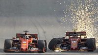 Seabastian Vettel a Charles Leclerc se vzájemně vyřadili ze závodu.