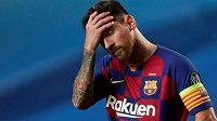 Po debaklu v Lize mistrů byl Lionel Messi hodně zklamaný. Barcelona dostala od Bayernu pořádně nařezáno.