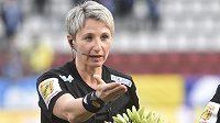 Hlavní rozhodčí zápasu Olomouc - Mladá Boleslav Jana Adámková.