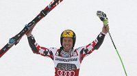 Rakušan Marcel Hirscher po triumfu v obřím slalomu v Garmisch-Partenkirchenu.