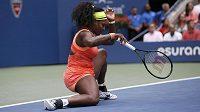 Američanka Serena Williamsová v semifinále US Open s Robertou Vinciovou z Itálie.