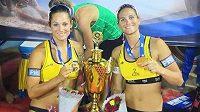 Beachvolejbalistky Martina Maixnerová a Martina Bonnerová ovládly turnaj v Indii.
