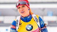 Vedoucí žena SP biatlonistek Gabriela Soukalová na MS v Oslu na medaili nedosáhla.