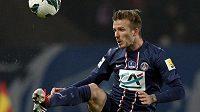 David Beckham v dresu Paris St. Germain v utkání Francouzského poháru