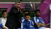 Trenér Řeků Santos prožíval duel s Čechy velmi emotivně
